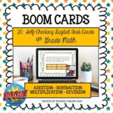 BOOM CARDS Fourth Grade Math Challenging Word Problems