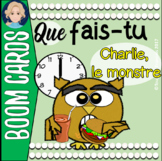 BOOM CARDS French Daily Routine Featuring Charlie, le Monstre