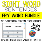 BOOM CARDS | Fry's Sight Word Sentence Bundle
