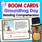 BOOM CARDS GROUNDHOG DAY HISTORY with READING COMPREHENSION QUESTIONS