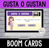 Distance Learning GUSTA O GUSTAN Spanish BOOM CARDS