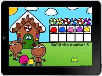 BOOM CARDS Gingerbread Counting FREEBIE