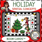 BOOM CARDS™ HOLIDAY SPATIAL CONCEPTS  SPEECH THERAPY