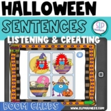 BOOM CARDS Halloween Sentences-Listening Comp & Creating G