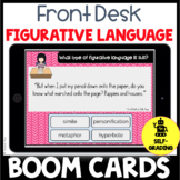 BOOM CARDS Front Desk Figurative Language Activity or Quiz