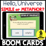 BOOM CARDS Hello, Universe Figurative Language Activity or Quiz