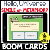 Hello, Universe Figurative Language Activity or Quiz BOOM CARDS