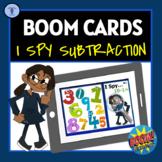BOOM CARDS: I SPY SUBTRACTION 1-10 DIGITAL TASK ACTIVITIES