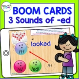 BOOM CARDS INFLECTIONAL ENDINGS : 3 Sounds of –ED