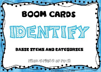 BOOM CARDS Identify Basic Items and Categories