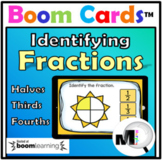 Fractions Game - Boom Cards - Grades 2 & 3 - Free Distance Learning