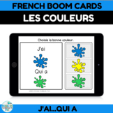 French BOOM CARDS Learn Colors