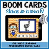 BOOM CARDS:Juego de lectura de sílabas letra Ñ- Distance Learning español