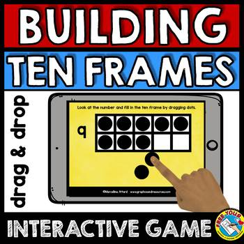 BOOM CARDS KINDERGARTEN TEN FRAMES INTERACTIVE DIGITAL GAME (IPAD ACTIVITIES)