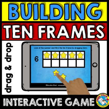 BOOM CARDS KINDERGARTEN TEN FRAMES INTERACTIVE DIGITAL GAME (IPAD ...