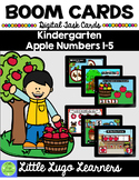 BOOM CARDS Kindergarten Apple Numbers 1-5 Bundle