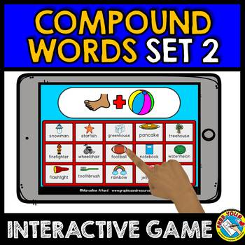 BOOM CARDS LANGUAGE GAMES BUNDLE (SYNONYMS AND COMPOUND WORDS GAMES)