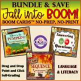 BOOM CARDS Language and Literacy FALL HALLOWEEN BUNDLE - T