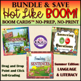 BOOM CARDS Language and Literacy SUMMER BUNDLE - Teletherapy