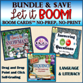BOOM CARDS Language and Literacy WINTER BUNDLE - Teletherapy