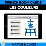 French Boom Cards for learning Colors