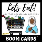 BOOM CARDS: Lets Eat! ASL Food Vocabulary