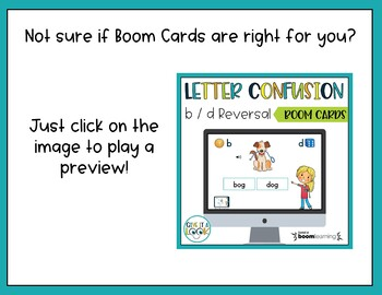 BOOM CARDS - Letter confusion - b / d reversal