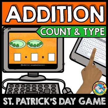 BOOM CARDS MARCH ACTIVITY (KINDERGARTEN ST. PATRICK'S DAY MATH ADDITION GAME)