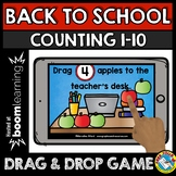 BOOM CARDS MATH BACK TO SCHOOL ACTIVITIES KINDERGARTEN (CO