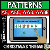 BOOM CARDS MATH CENTER (PATTERNING CHRISTMAS ACTIVITY KINDERGARTEN, PRESCHOOL)