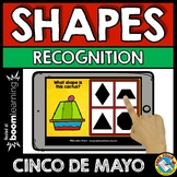BOOM CARDS MATH CINCO DE MAYO ACTIVITY (KINDERGARTEN 2D SHAPES GAME FOR MAY)