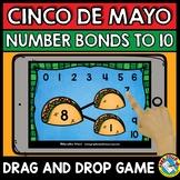 BOOM CARDS MATH (CINCO DE MAYO ACTIVITY KINDERGARTEN) NUMBER BONDS TO 10 GAME