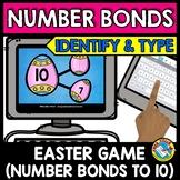 BOOM CARDS MATH (EASTER ACTIVITY KINDERGARTEN) NUMBER BONDS TO 10 GAME