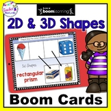 BOOM CARDS MATH 2D & 3D SHAPES Digital Task Cards