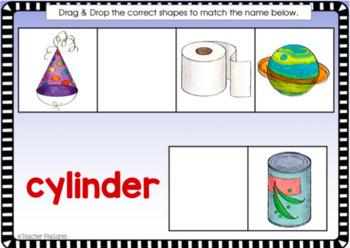 BOOM CARDS MATH 2D & 3D SHAPES Digital Task Cards