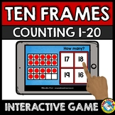 BOOM CARDS MATH KINDERGARTEN COUNTING TEN FRAMES 1-20 GAME (20 FRAMES ACTIVITY)