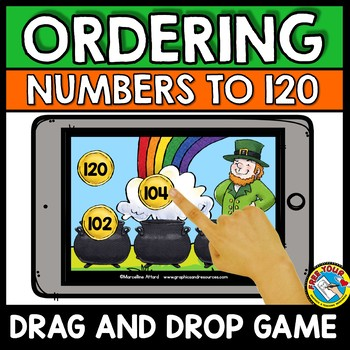 BOOM CARDS MATH MARCH ACTIVITY (1ST GRADE ORDERING NUMBERS CENTER)