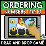 BOOM CARDS MATH MARCH ACTIVITY (KINDERGARTEN ORDERING NUMBERS CENTER)