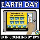 BOOM CARDS MATH APRIL ACTIVITY (KINDERGARTEN EARTH DAY SKI