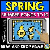 (SPRING ACTIVITY KINDERGARTEN) NUMBER BONDS TO 10 GAME BOOM CARDS MAY MATH
