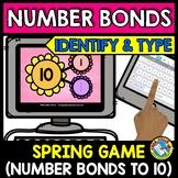 BOOM CARDS MAY MATH (SPRING ACTIVITY KINDERGARTEN) NUMBER BONDS TO 10 GAME
