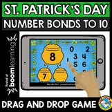 BOOM CARDS MATH MARCH (ST. PATRICK'S DAY NUMBER BONDS TO 10 GAMES KINDERGARTEN)