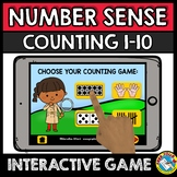 BOOM CARDS MATH (NUMBER SENSE ACTIVITIES KINDERGARTEN) SUBITIZING 1-10