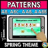 BOOM CARDS APRIL MATH CENTER (PATTERNING SPRING ACTIVITY KINDERGARTEN)