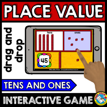 BOOM CARDS PLACE VALUE GAME (TENS AND ONES PLACE VALUE GAME FIRST GRADE)