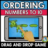 BOOM CARDS MATH (SPRING ACTIVITY KINDERGARTEN, PREK) ORDERING NUMBERS CENTER)