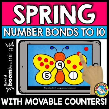 BOOM CARDS MATH (SPRING ACTIVITIES KINDERGARTEN) NUMBER BONDS TO 10 GAME