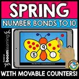 BOOM CARD SPRING MATH ACTIVITY KINDERGARTEN NUMBER BONDS TO 10 GAME MAY CENTER