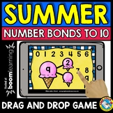 BOOM CARDS MATH (END OF THE ACTIVITY KINDERGARTEN) NUMBER BONDS TO 10 GAME