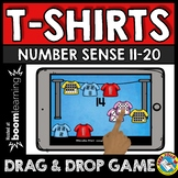 BOOM CARDS SUMMER MATH CENTER ACTIVITY (TEEN NUMBERS KINDERGARTEN GAME)